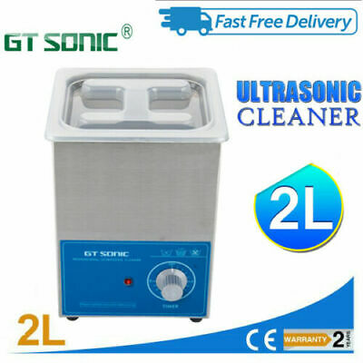 Pro 2L Digital Ultrasonic Cleaner Stainless Tank Ultra Sonic Bath Cleaning Timer