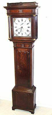 ~ THOMAS COOPER NEWPORT Antique Oak Mahogany Grandfather Longcase Clock WORKING