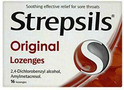 Strepsils Original Antiseptic Dual Lozenges 16 SoreThroat Relife