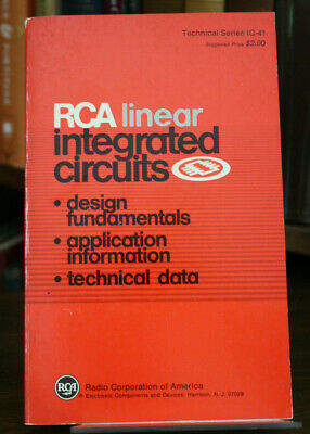 RCA Linear Integrated Circuits design, application, data Tech. series IC-41