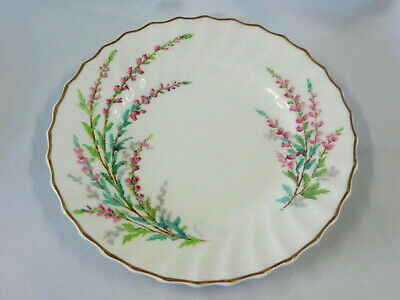 Royal Doulton England BELL HEATHER Scalloped Bread Plate w Gold Trim sau70