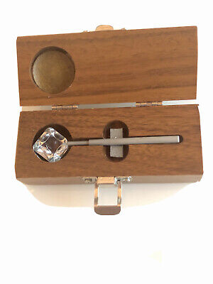 Used Gonioscopy 4-Mirror By Ocular Instruments, with solid wood case .