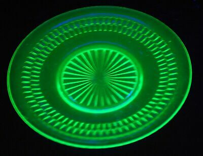 Anchor Hocking Green Depression Glass ROULETTE Luncheon Plate/s