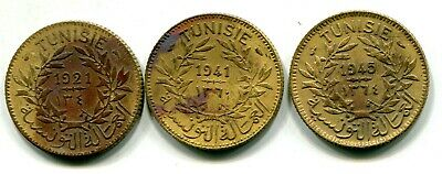 Tunisia 1921, 1941 & 1945 Good For 1 Franc KM#247 Circulated