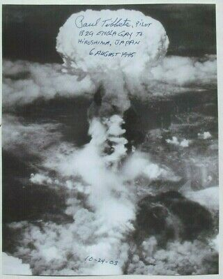 Enola Gay Pilot Paul Tibbets Signed Photograph Atomic Bomb Japan World War II