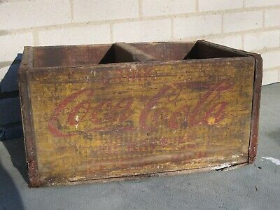 Vtg Coca Cola Wood Crate Detroit Coca Cola Bottling Co.