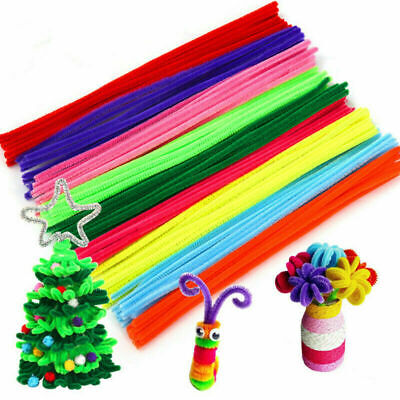 100pcs Pipe Cleaners Chenille Stems Art & Kids Craft Decorations For Handicrafts