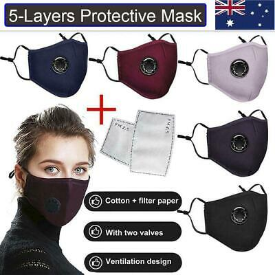 5-Layers Face cover Carbon Filter Cotton Mouth Muffle Anti Haze Fog Respirator
