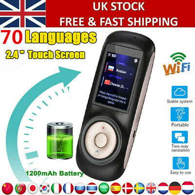 70 Languages Smart Translator Voice Device WIFI Two-Way Translation Machine UK