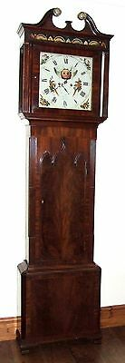 ~ Antique Mahogany Halifax Moon Longcase Grandfather Clock by Butler BOLTON