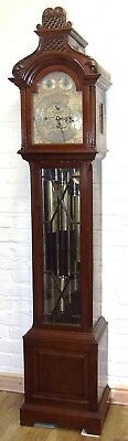 ~ Antique Musical Tube Chiming Mahogany Longcase Grandfather Clock MAPPIN & WEBB