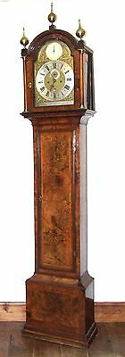 ~ RARE MONTH GOING Antique Walnut  Longcase Grandfather Clock Etherington LONDON