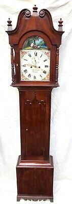 ~ Antique Mahogany ROCKING SEESAW Longcase Grandfather Clock GARMAN MEONSTOKE