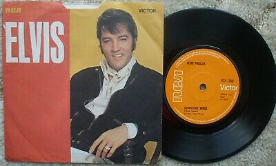 Elvis Presley - Suspicious Minds / You'll Think Of Me - Rare Blank Sleeve Solid