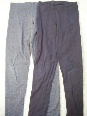 Girls YD,George black and grey LEGGINGs ,age 8-9,good condition