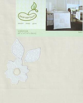 Beansprout Bella Creme Floral Valance Window Treatment New