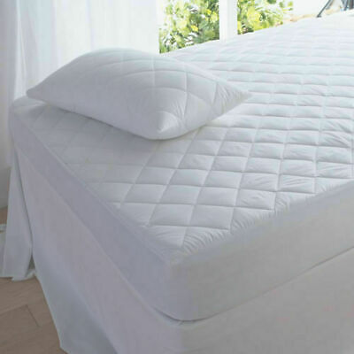 Waterproof Quilted Matress Mattress Protector Fitted Bed Cover:all Sizes