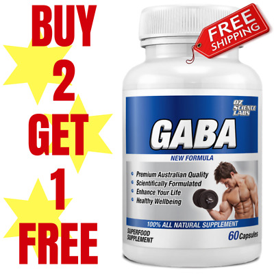GABA 1000mg - Anxiety - Stress - Relaxation - Nervous Tension Buy 2 - Get 1 FREE