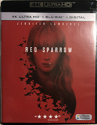Red Sparrow (4K Ultra HD + Blu-Ray +Digital). Pre-owned