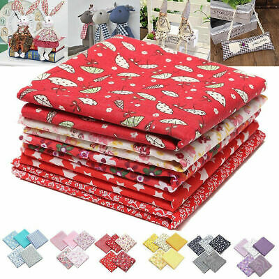 5Pcs DIY 50*50cm Mixed Pattern Cotton Fabric Sewing Quilting Patchwork Craft US