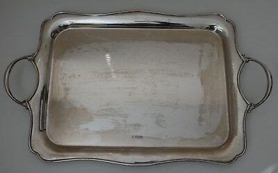 "Large & Heavy solid silver TRAY - Sheffield 1927 72.8 tr oz / 2264g  20.75"" wide"