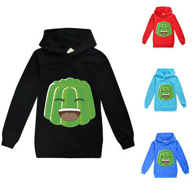 2020 Jelly Green Hoodies Tops Kids Children Long Sleeve Hooded Tee Tops Age 2-16