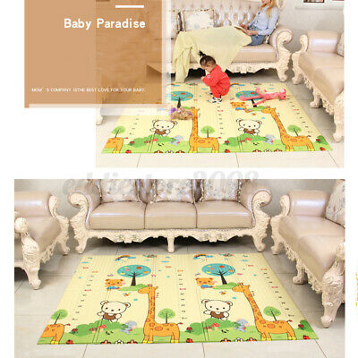 Double SIDE BABY MAT Kids Crawl Education Game Soft Foam Baby Foldable
