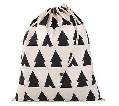 Anorak Trees & Tents Laundry Bag Pale Pink / Black