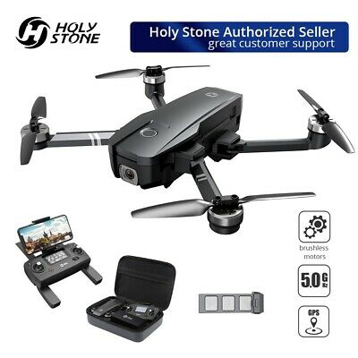 Holy Stone HS720 Brushless GPS drone 4K FHD camera FPV quadcopter foldable +case