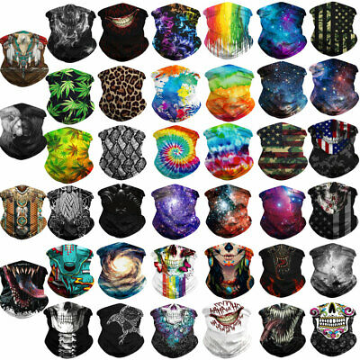 Multi-Purpose Bandana Face Cover Neck Warmer Dust Shield Snood Scarf Hair Band