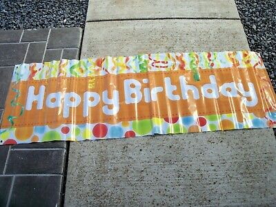 """Giant Happy Birthday Banner Guys or Girls Outdoors Decoration 60"""" x 20"""""""