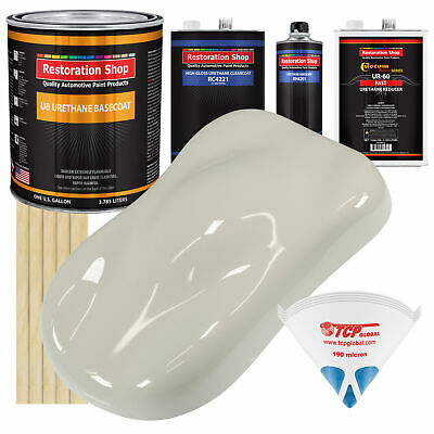 SPINNAKER White Gallon Kit URETHANE BASECOAT Car Auto Paint FAST Kit
