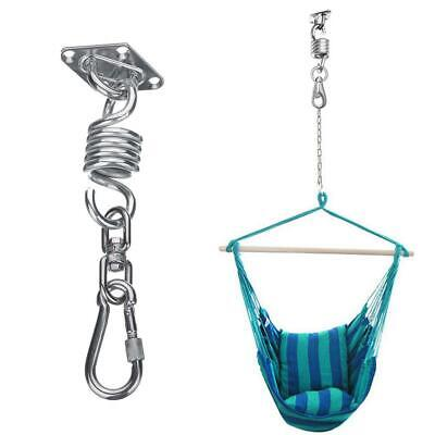 Hyddnice 2 Set Hammock Hook Swing Chair Hanging Spring Kit Stainless Steel Hammock Spring Hanging Mounting Hardware 600lb Capacity Heavy Duty Hammocks Stands Accessories Hammock Stands