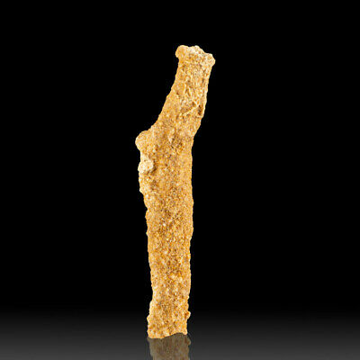 "3.8"" Lightning Fused Glass Tube FULGURITE from Lightning Strike Morocco for sale"