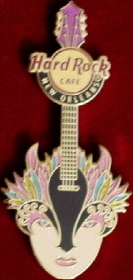 Hard Rock Café Neuf Orleans 2012 Tuesday Gras Fleur de Lis Masque Guitare Broche