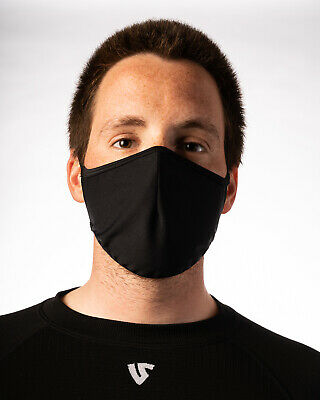 Protective Face Mask Reusable by UnderShield-  Unisex - Black - N80 Approved