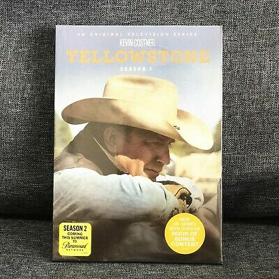 [Yellowstone] Season One 1 (DVD, 2018, 4-Disc Set) Region 1 First Fast Shipping