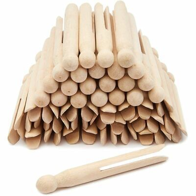 """40 pcs Traditional Clothespins Round Wooden for Craft Creative 3 1//2/"""" Each"""