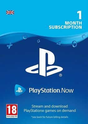 Playstation Now 1 Month Subscription Key - UK *ONLY*