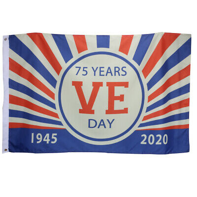 V E DAY 8th MAY 75th Union Jack Decorations Great Britain Flags Bunting 2020