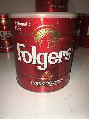 Red Folger's Coffee Can ~Aroma Roasted ~Automatic Drip~39oz. THE BIG LEBOWSKI