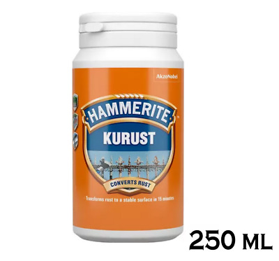 Hammerite Kurust Rust Killer Rust Treatment No Undercoat Required - Bottle 250ml