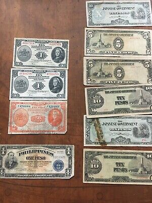 NETHERLANDS LOT OF 3 BANKNOTES GULDEN 1943 + WW2 Japanese & Philippine Peso