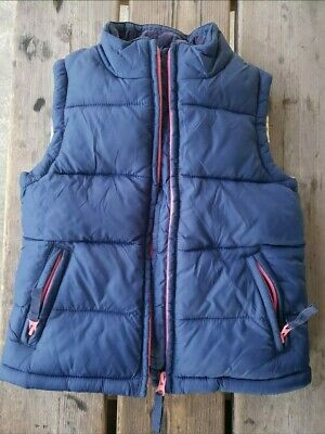 Mini Boden Girls SZ 3-4Y NAVY Quilted Warm Puffer Vest w/ Floral Lining full zip