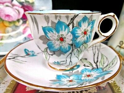 ROYAL STAFFORD tea cup and saucer painted floral teacup  1930's England
