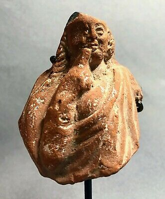 Ancient Egyptian Terracotta Fragment of Harpocrates, Hellenistic 3rd-2nd BC