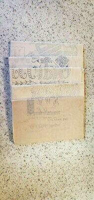 #2 Collection Of Vintage Embroidery Transfer Patterns - 1940'S Era