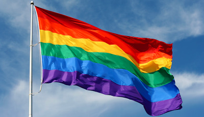 Rainbow Thank You NHS Flag Large 5 x 3 FT - Frontline Workers Banner Charity