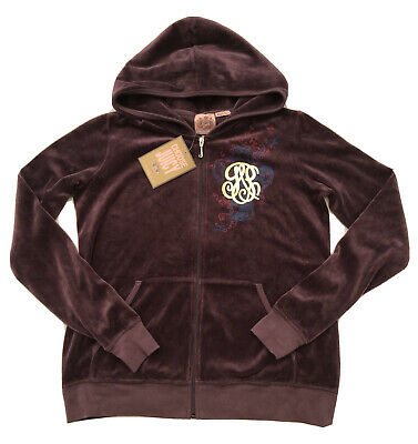 NWT Juicy Couture Genuine Ladies Small Purple Maternity Hoodie With Logo