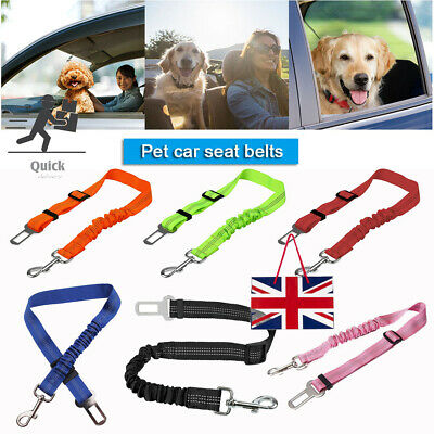 Anti Shock Dog Car Seat Belt Clip Bungee Lead Vehicle Pet Travel Safety Harness